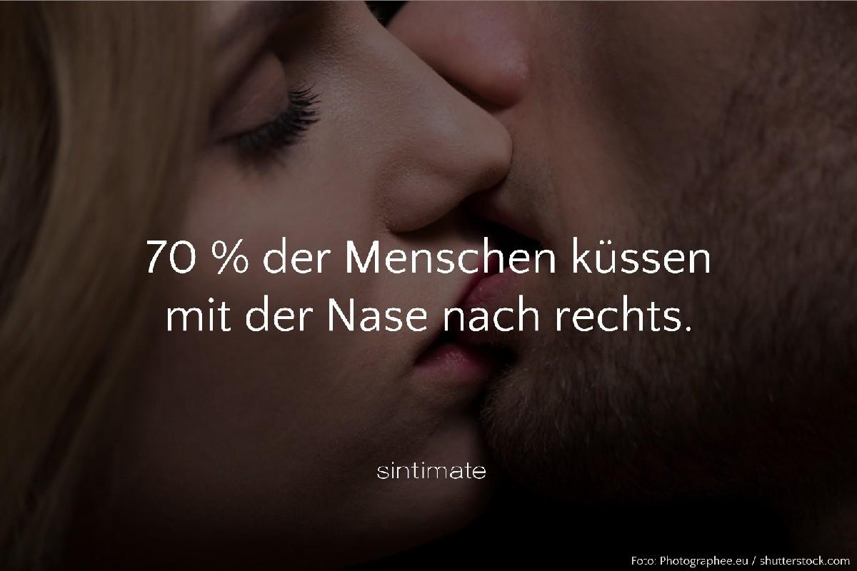 Sex Fakten, wohin Nase beim Küssen, Nase beim Küssen