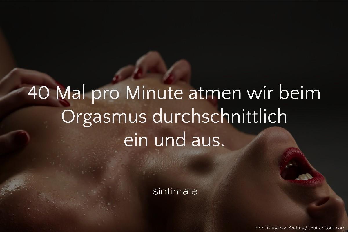 Atmung beim Sex, Atmung beim Orgasmus, Sex Fakten, Sex Sport