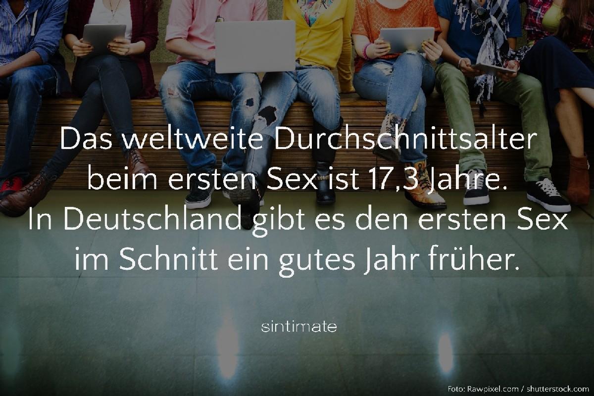 Durchschnittsalter erstes Mal, Alter erstes Mal Sex, Sex Fakten