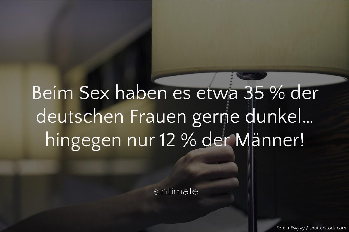 Sex Fakten, Sex Frauen Licht aus, Sex im Dunkeln, Sex Licht aus