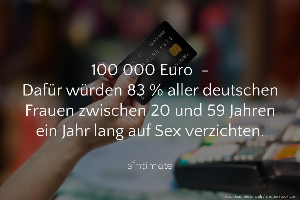Sex verzichten, Sex Geld verzichten, ein Jahr kein Sex, Sex Fakten
